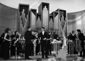 А. Савченко (скрипка), дирижер - А. Чуйков